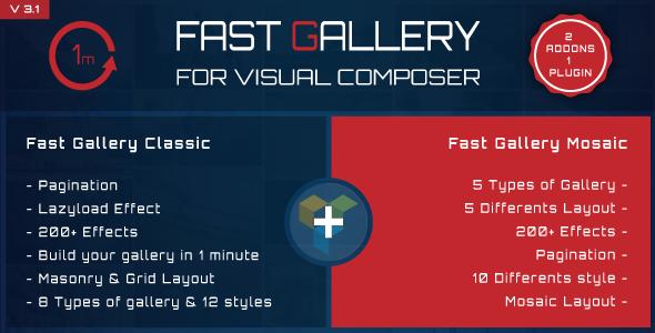 Pacote de complementos do compositor visual - galeria, mídia, posts e utilitário para VC-1