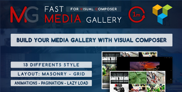 Pacote de complementos do compositor visual - galeria, mídia, posts e utilitário para VC-2