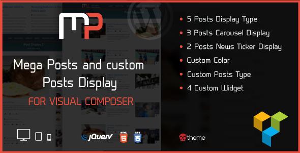 Pacote de complementos do compositor visual - galeria, mídia, posts e utilitário para VC-3