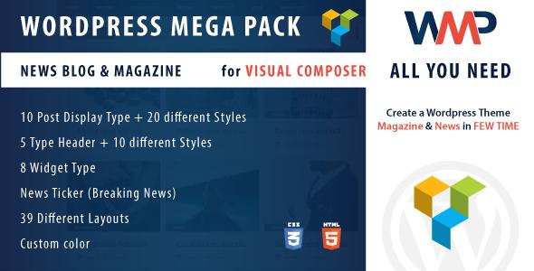 Pacote de complementos do compositor visual - galeria, mídia, posts e utilitário para VC-6
