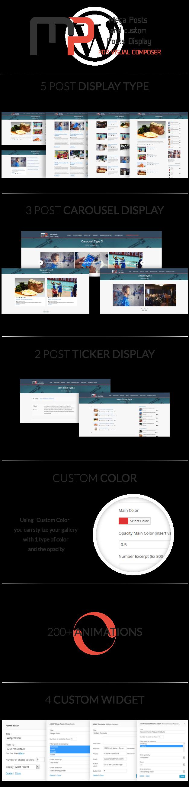 Mega Posts Display for Visual Composer 1