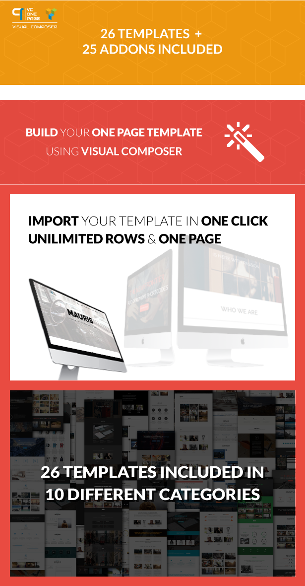VC One Page Builder - Addons for Visual Composer 1