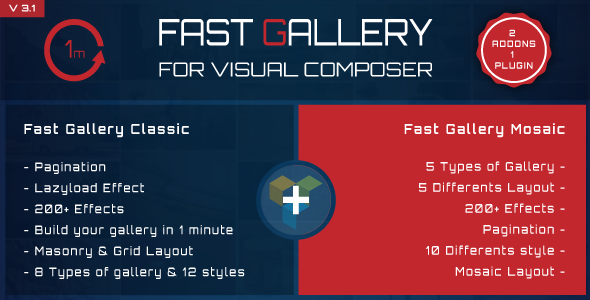 Visual composer addons bundle - gallery, media, posts and utility for VC 1
